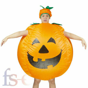 Inflatable Pumpkin Adults Halloween Costume Fancy Dress Cosplay Party Costume