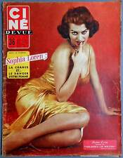 ►CINE REVUE 23/1956-SOPHIA LOREN-MARLENE DIETRICH-ROBERT TAYLOR-ROSSANA PODESTA