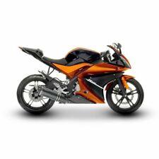 Full ABS Plastic Decal Kit (20 Panel) Black/Orange Yamaha YZF-R 125 08-13