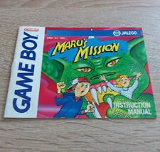 Nintendo Gameboy (GB) // Maru's Mission - Anleitung/Instructions // US