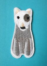 Bull Terrier Dog Embroidered Patch Applique Iron Sew On Patch Embroidery English