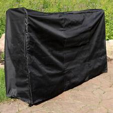 Sunnydaze Log Rack Cover Black Outdoor Waterproof Weather-Resistant PVC - 6'