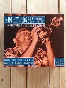 Shorty Rogers 1946-1954 West Coast Trumpet Ace, Composer. 5 Disc Set.