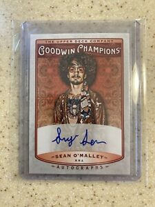 SEAN O'MALLEY 🔥AUTOGRAPHED ROOKIE CARD!!!📈 2019 Goodwin Champions / Upper Deck