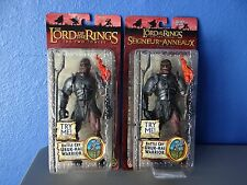 BATTLE CRY URUK HAI WARRIORS LOTR THE TWO TOWERS F/X new lot of 2 toy biz