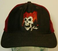 Vintage 1990s Jester Clown Skeleton Skull Graphic SNAPBACK HAT CAP MADE IN USA