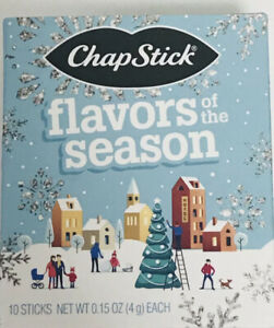 10 PackChapStick Holiday Flavors of the season Lip Balm Sugar Cookie, More..
