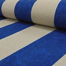 CARATI Glitter Stripe Carta da Parati Blu / Oro-P+S 13346-60 metallica