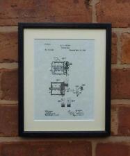 Patente de EE. UU. Dibujo Mar Embrague Reel De Pesca Peces montado impresión 1885 Regalo Tackle