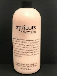 Philosophy APRICOTS AND CREAM Shampoo Shower Gel 32oz SEALED W/ PUMP