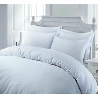Luxury 100% Egyptian Cotton Sateen Duvet Cover Set Single Double King Bedding