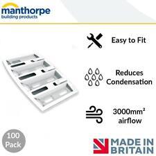 Manthorpe | Felt Lap Vents | Attic/Roof/Loft Ventilation | 25 Pack