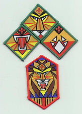 Extinct 1990's SCOUTS OF SINGAPORE - CHIEF SCOUT Higher Rank Award Patch SET