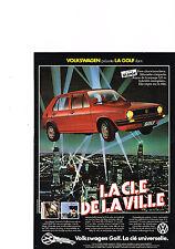 PUBLICITE ADVERTISING  1982   VOLKSWAGEN    GOLF