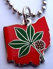OSU Ohio State Buckeyes Rose Bowl Football PENDANT Necklace Charm w/ Chain