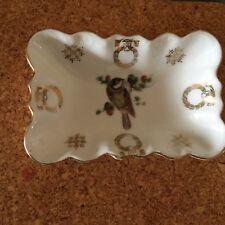 Vintage Silesia Germany Porcelain /Ring/Bon Bon/Candy/Nut dish Gild Birds design
