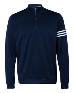 Adidas ClimaLite Golf Three-Stripe French Terry Pullover Jacket NEW A190 S-3XL