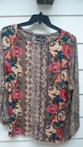 Carole Little Long Sleeve Shirt Size 16