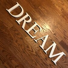 """Pottery Barn Kids Letters Wood Dream 8"""" Wall Letters White Cream"""