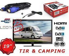 "19"" 12V LCD HD Digital TV 12 VOLT 230 V. BOAT, CARAVAN ,HGV TRUCK DivX, MPEG-4"