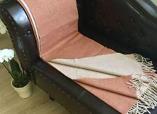 laine COUVERTURE double-face avec cachemire Part,canapé-couverture 135x175 cm