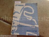 2007 YAMAHA WR450FW Owner's Service Manual OEM
