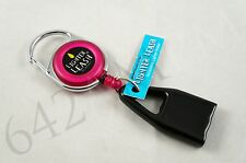 PREMIUM LIGHTER LEASH PULL OUT CLIP RETRACTABLE PINK