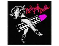 NEW YORK DOLLS cowgirl/lipstick 2009 WOVEN SEW ON PATCH official merchandise NYD