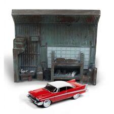 Johnny Lightning 1:64 Diorama Christine 1958 Plymouth Fury W Garage Resin Facade
