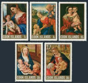 Cook Isls 243-247,247a,MNH. Christmas 1968.Titian,Raphael,Murillo,Memling,
