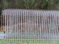 Five Galvanized steel Garden/ Pool Fence  Panel, 240 cm w,124 cm high,