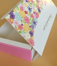 Cute Bakery Box | for Cupcake/Muffin/Cake Party Gift | Multi-color Floral | 12ct