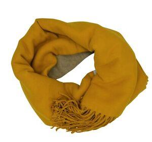 Hochwertiger Double Face Schal XL in Safran Gelb