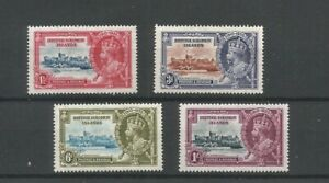 British Solomon Islands 1935 Silver Jubilee Mounted Mint Set SG 53/6