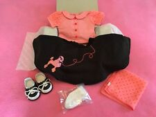NEW American Girl Set Mary Ellen Poodle Skirt Outfit Sock Hop 1950 Diner Great