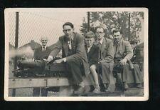 MINIATURE RAILWAY steam loco Engine and passengers 1956 photo unlocated