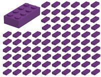 ☀️100 NEW LEGO 2x4 DARK PURPLE Bricks (ID 3001) BULK Parts Girl Friends Pastel