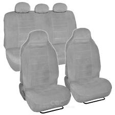 High Back Seat Covers Encore Velour Cloth 7pc Full Interior in Gray