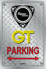 Metal Parking Sign  Rotary Mazda Style GT#11 - Checkerplate Look