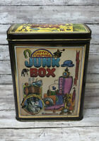 Vintage Any Purpose Junk Box England Rare Old Collectible Decorative Tin Can
