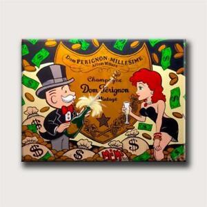 Alec Monopolys Dom Perignon Hd Wall Art Canvas Poster Print Canvas Painting SALE