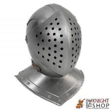 18GA Medieval Bascinet Hounskull Helmet Klappvisor Battle Knight Helmet YZ566