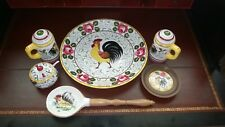 New Listing - Chinese Rooster Serving Set w 6 Pieces