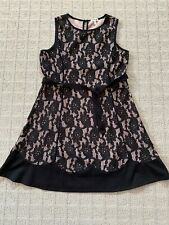 Monteau Girl Black Lace Dress from Nordstrom Size XL (16) EUC