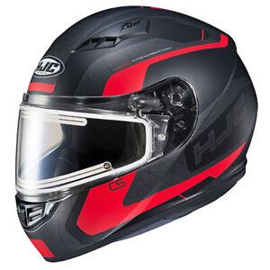 HJC Men's CS-R 3 SN Snow Helmet w/Electric Shield DOT MC1SF Red L 051-714