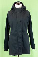 291 Ivivva Lululemon girl gray black hood WOOL Rock in t Rain coat jacket EUC 12