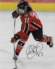 Auto. Cassie Campbell Team Canada 2002 Salt Lake Olympics 8x10 #2 Womens Hockey