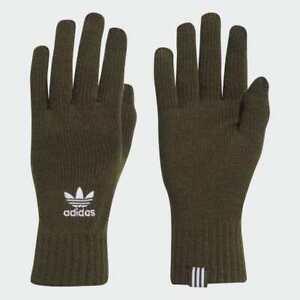 Adidas Originals Trefoil Warm Winter Smartphone Gloves Mens Womens Unisex -Green