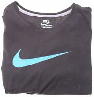 NIKE Boys Graphic T-Shirt Top 12-13 Years Large Black Cotton  GM05