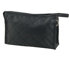 Portable Black Girls Grid Pattern Cosmetic Make Up Small Zippered Bag Case HY
